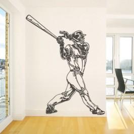 Baseball játékos falmatrica