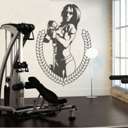 Bodybuilder nő falmatrica