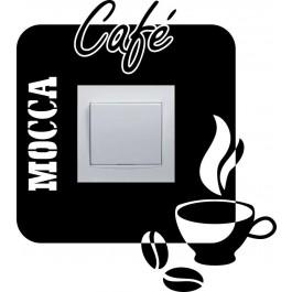 Kávé kapcsoló matrica
