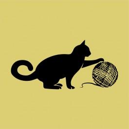 Macska cérnával