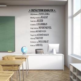 Osztálytermi szabályok falmatrica