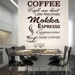Kávé felirat falmatrica