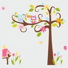 Színes baglyos fa