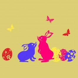 Húsvéti nyúlak és tojások