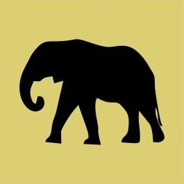 Elefánt sziluett