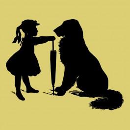 Kislány kutyával