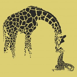 Zsiráf anyuka bébijével