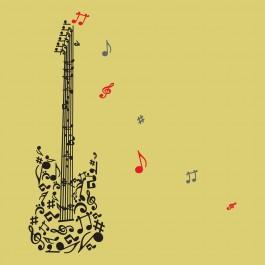 Gitár hangjegyekből
