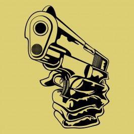 Fegyvert tartó kéz