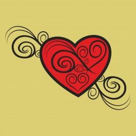 Virág szív