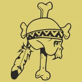Indiány koponya
