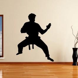 Karate sziluett falmatrica