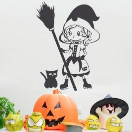 Kis boszorkány falmatrica
