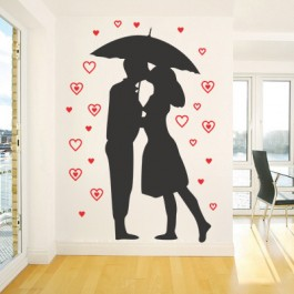 Szerelem az esőben falmatrica