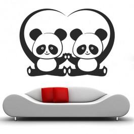 Szerelmes pandák falmatrica