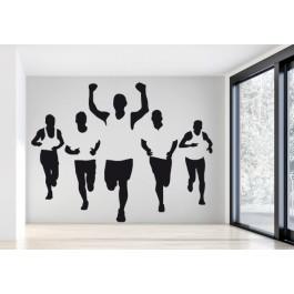 Maraton futók falmatrica