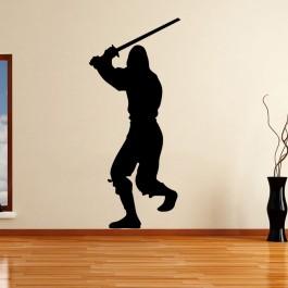 Ninja sziluett falmatrica
