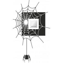 Pók kapcsoló falmatrica