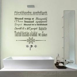 Fürdőszoba szabályok falmatrica