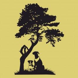 Kutyák a fa alatt
