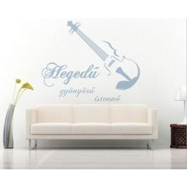 Hegedű falmatrica