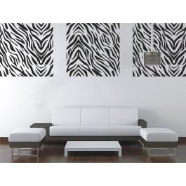 Zebra mintás falikép