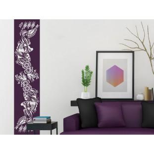 Virág mintás banner falmatrica